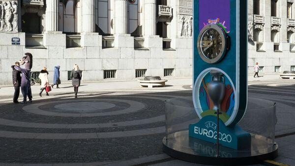 Табло обратного отсчета до чемпионата Европы по футболу 2020 - Sputnik Азербайджан