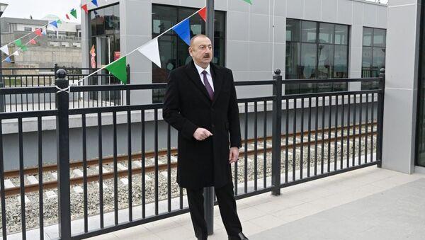 İlham Əliyev açılışda - Sputnik Азербайджан