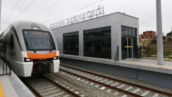 Станция Новханы, фото из архива - Sputnik Azərbaycan