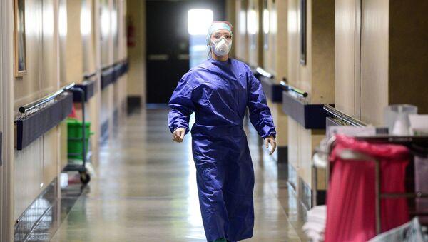 Доктор одной из поликлиник, фото из архива - Sputnik Азербайджан