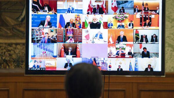 Видеоконференции лидеров Большой двадцатки (G20) - Sputnik Азербайджан