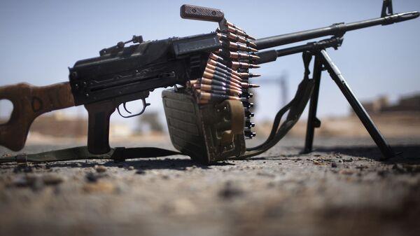 Обстрел из пулемета, фото из архива - Sputnik Азербайджан