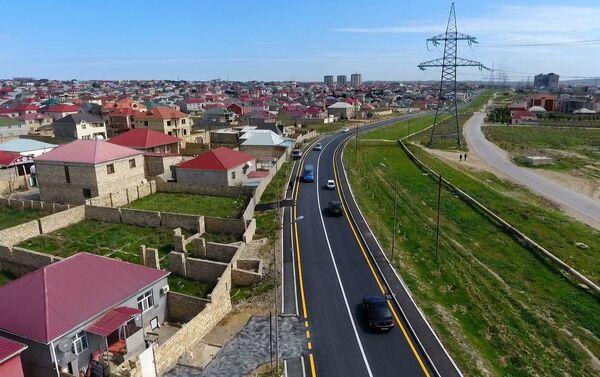 Улица Гара Гараева в поселке Мехдиабад Абшеронского района - Sputnik Азербайджан