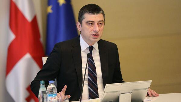Премьер-министр Грузии Георгий Гахария - Sputnik Азербайджан