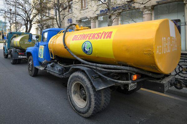 Работы по дезинфекции - Sputnik Азербайджан