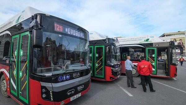 Автобус в Баку, фото из архива - Sputnik Азербайджан