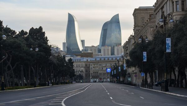Пустая улиц в Баку, фото из архива - Sputnik Азербайджан