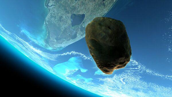Астероид на фоне Земли - Sputnik Azərbaycan