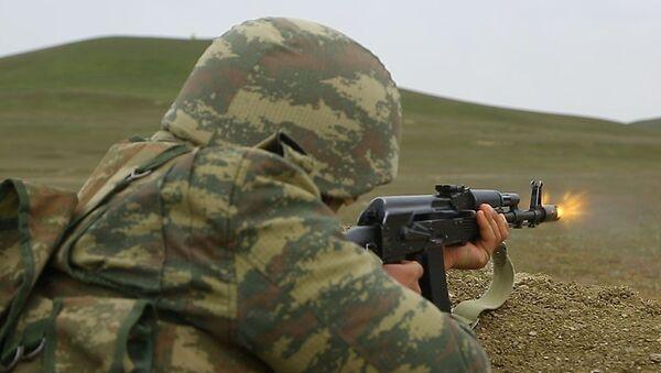 Военнослужащий азербайджанской армии, фото из архива - Sputnik Азербайджан