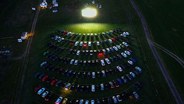 Аэрофотоснимок кинотеатра под открытым небом в Германии - Sputnik Азербайджан