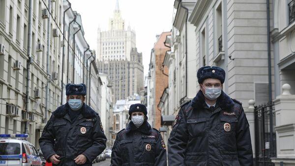 Сотрудники МВД в Москве, фото из архива - Sputnik Азербайджан