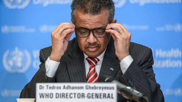 Генеральный директор Всемирной организации здравоохранения Тедрос Аданом Гебреисус, фото из архива - Sputnik Azərbaycan