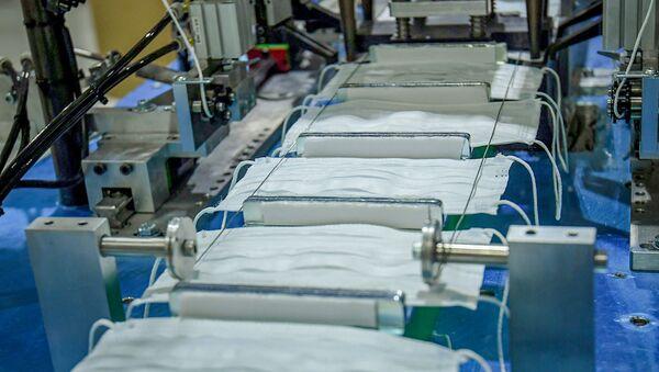 Предприятие по производству медицинских масок в Сумгайытском химическом промышленном парке - Sputnik Azərbaycan