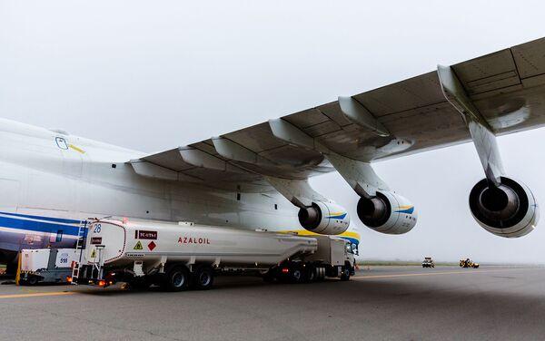 Авиалайнер Ан-225 Мрия в аэропорту Гейдар Алиев - Sputnik Азербайджан