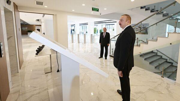Ильхам Алиев принял участие в открытии после реконструкции Главного управленческого, научно-образовательного комплекса - Sputnik Азербайджан