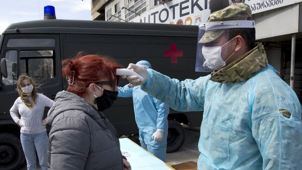 Ситуация в связи с эпидемиологической обстановкой в Грузии  - Sputnik Азербайджан