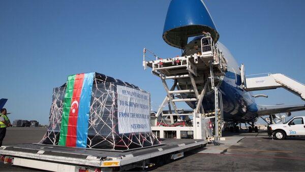 Гуманитарная помощь, фото из архива - Sputnik Азербайджан