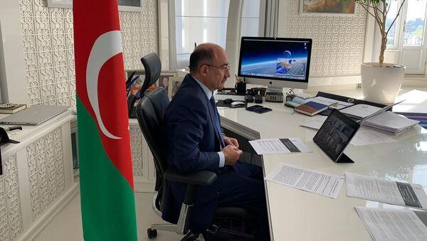 Абульфас Гараев  во время онлайн-совещании  - Sputnik Азербайджан