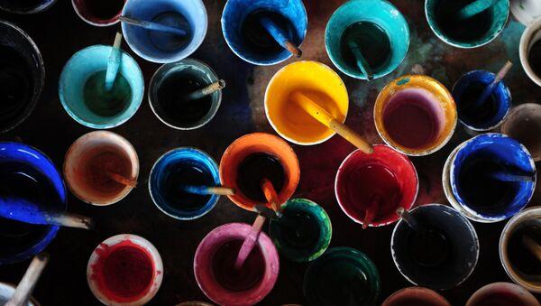 Краски и кисти художника, фото из архива - Sputnik Азербайджан