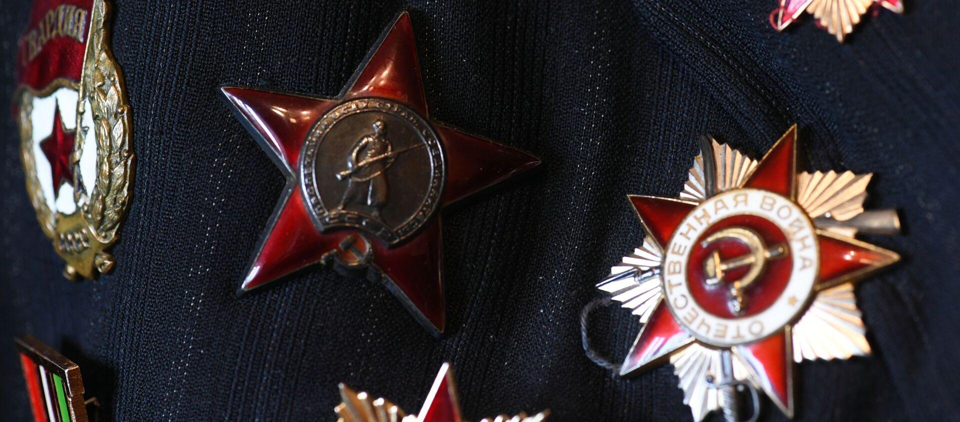 Награды ветерана Великой Отечественной войны, фото из архива - Sputnik Азербайджан, 1920, 27.04.2021