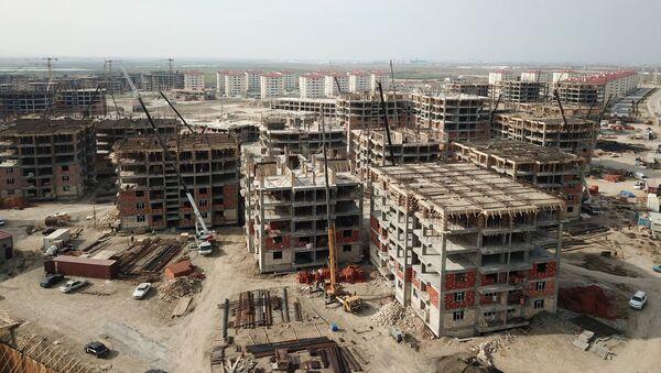 Yaşayış kompleksinin tikinitisi, arxiv şəkli - Sputnik Азербайджан
