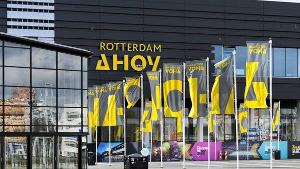 Общий вид концертного зала «Ахой» в Роттердаме , который должен был принять конкурс  «Евровидение», фото из архива - Sputnik Азербайджан