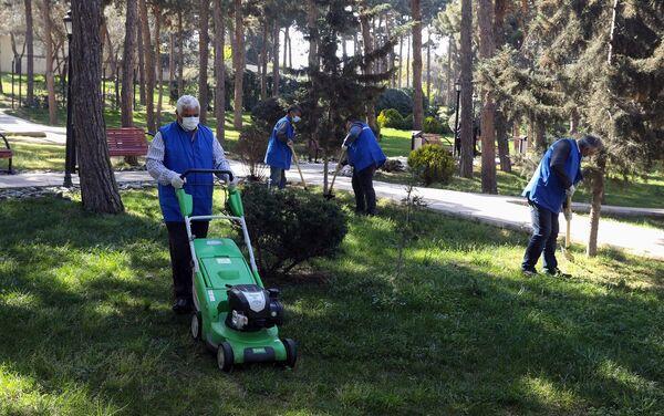 Жители благоустраивают парк в Баку  - Sputnik Азербайджан
