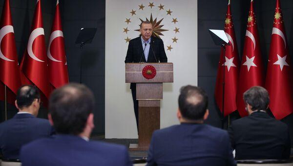 Президент Турции Реджеп Тайип Эрдоган - Sputnik Азербайджан