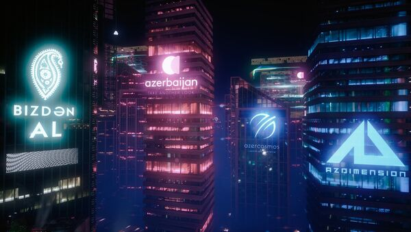 Эскиз мини-игры Rainly neon – Baku - Sputnik Азербайджан