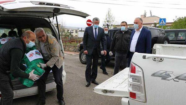 Азербайджан помог продовольствием еще одному району Грузии - Sputnik Азербайджан