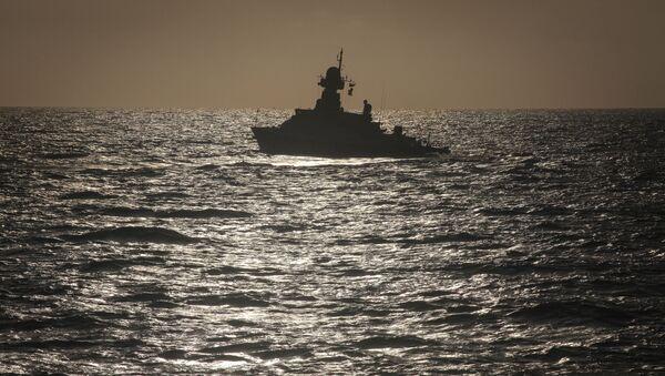 Учения корабельных сил Каспийской флотилии, фото из архива - Sputnik Azərbaycan