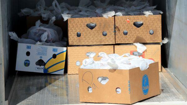 Коробки с продуктами, фото из архива - Sputnik Азербайджан
