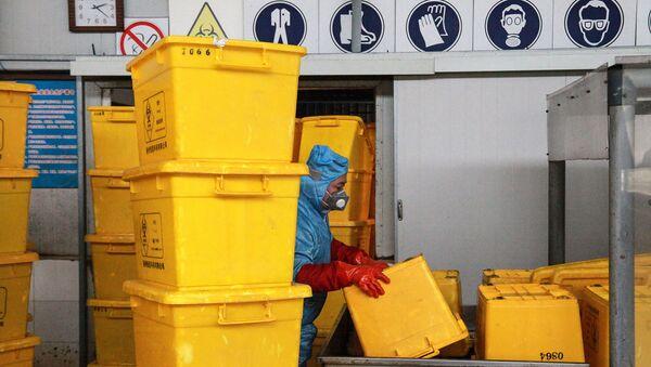 Контейнеры для транспортировки медицинских отходов, фото из архива - Sputnik Азербайджан