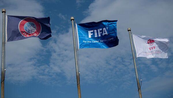 Флаг ФИФА и УЕФА в Стамбуле, фото из архива - Sputnik Азербайджан