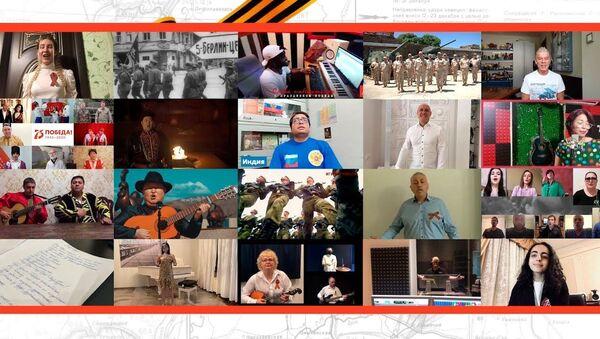 Более миллиона человек из 60 стран исполнили песню День Победы - Sputnik Азербайджан