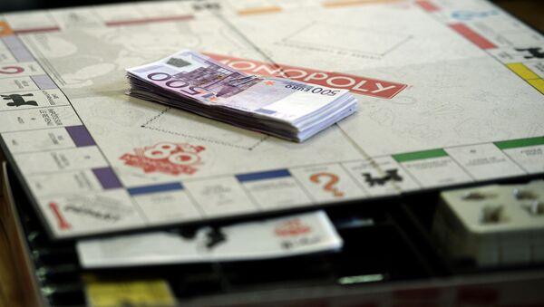 Пачка денег номиналом 500 евро, фото из архива - Sputnik Azərbaycan