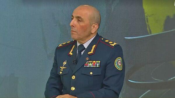 Заместитель начальника ГПС генерал-лейтенант Нагиев Афган  - Sputnik Азербайджан
