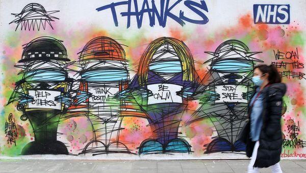 Граффити в благодарность медицинским работникам в Лондоне - Sputnik Азербайджан