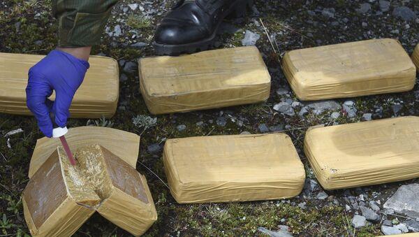 Сотрудники правоохранительных органов готовятся к сжиганию кокаина и марихуаны, фото из архива - Sputnik Azərbaycan