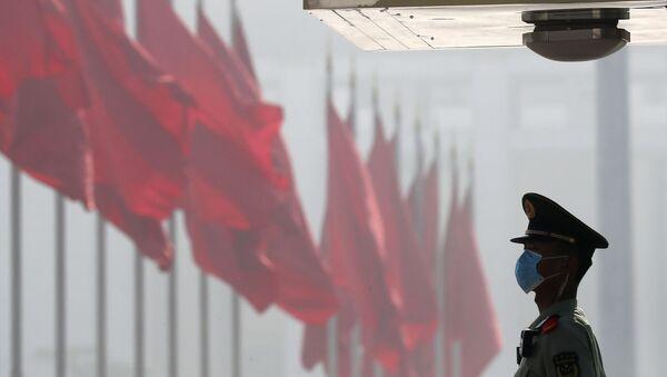 Çin bayrağı, arxiv şəkli - Sputnik Азербайджан