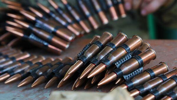 Пулеметная лента с патронами, фото из архива - Sputnik Азербайджан