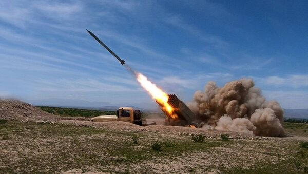 Командно-штабные учения войск Нахчыванского гарнизона - Sputnik Азербайджан