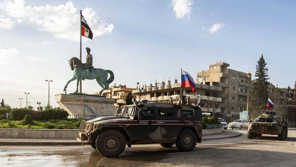 Российская машина военной полиции в Сирии, фото из архива - Sputnik Azərbaycan