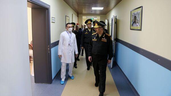 Müdafiə naziri Baş Klinik Hospitalın yeni korpusunun açılışında - Sputnik Азербайджан