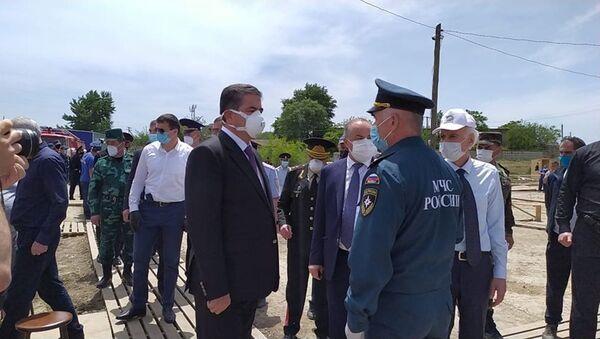 Азербайджанская делегация встретилась в Дагестане с азербайджанцами - Sputnik Азербайджан