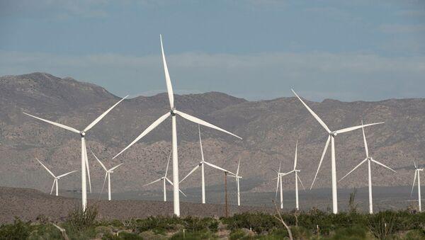 Ветряные электростанции, фото из архива - Sputnik Azərbaycan