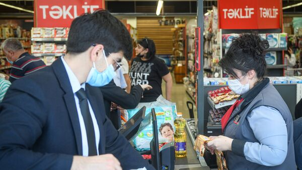 Работа супермаркета в Баку  - Sputnik Азербайджан