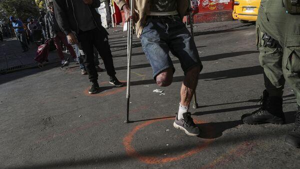 Человек с ограниченными возможностями, фото из архива - Sputnik Azərbaycan