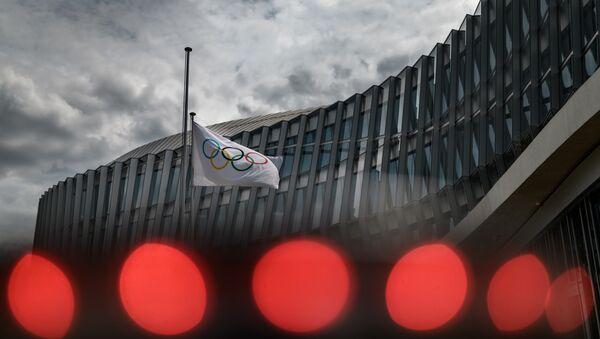 Флаг Олимпийских игр, фото из архива  - Sputnik Azərbaycan