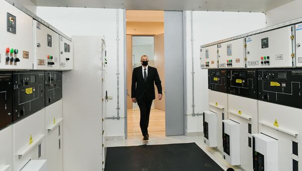 İlham Əliyev  yarımstansiyasının açılışında - Sputnik Азербайджан